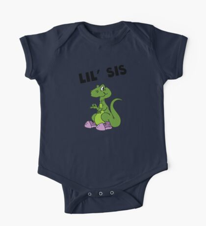 Lil' Sis Dinosaur One Piece - Short Sleeve