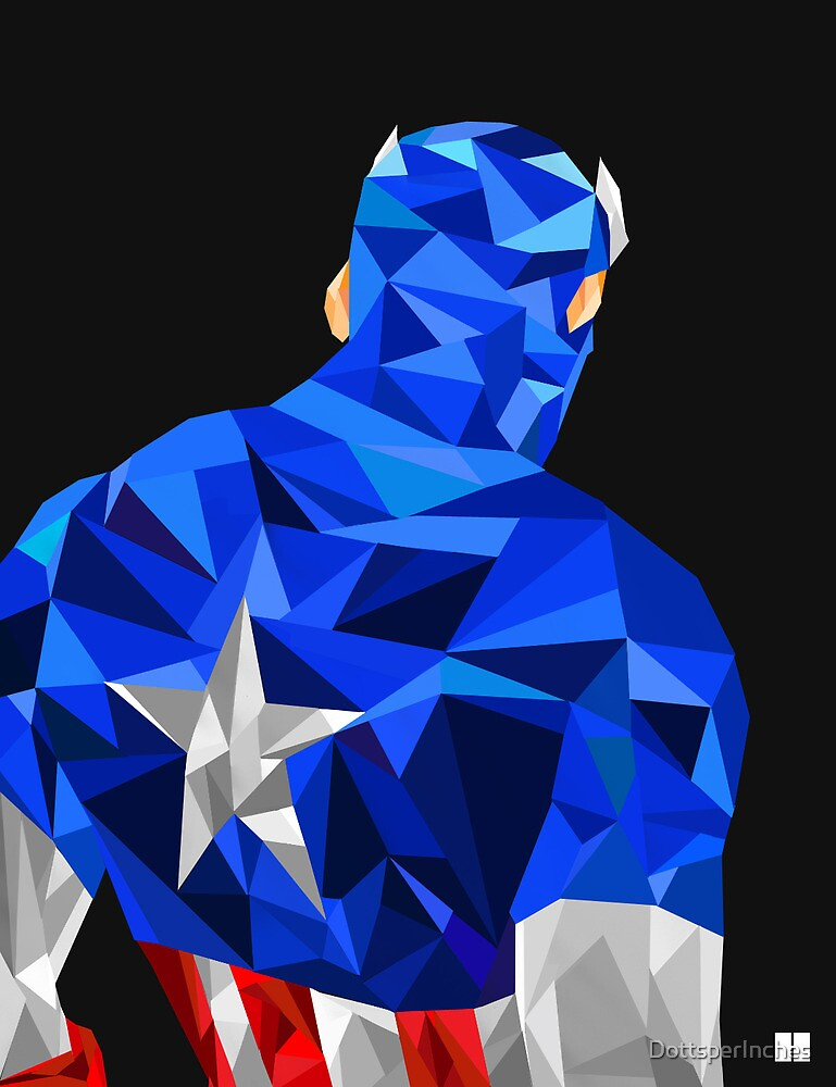 Captain America by DottsperInches