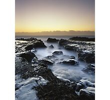 """A Foamy Reception"" ∞ Currumbin, QLD - Australia Photographic Print"