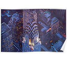 New York City Midtown Manhattan Chrysler Building Poster