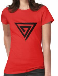 Spiral Triangular - Black Edition Womens Fitted T-Shirt