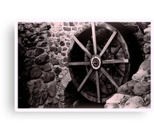 Old mill wheel Canvas Print