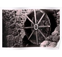 Old mill wheel Poster