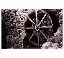 Old mill wheel Photographic Print