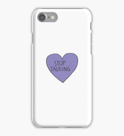 """Stop Talking"" funny tumblr stickers & phone cases iPhone Case/Skin"