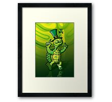 Saint Patrick's Day Turtle Framed Print