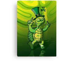 Saint Patrick's Day Turtle Canvas Print