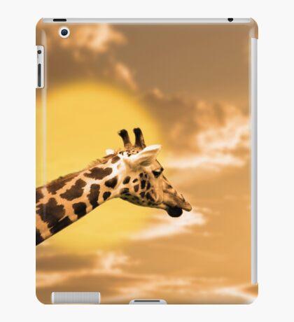 zebra portrait in the sunset iPad Case/Skin