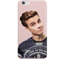 Joe Sugg with Pastel Pink Background  iPhone Case/Skin