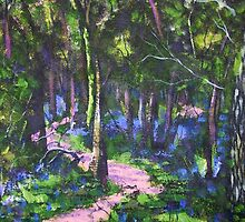 Bluebell Wood, Acrylics by Emily King