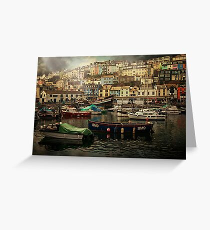 Harbour and boats Greeting Card