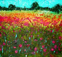 Summer Field Acrylic Painting by Emily King