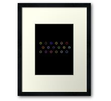 Pokemon - Modern Elements Framed Print