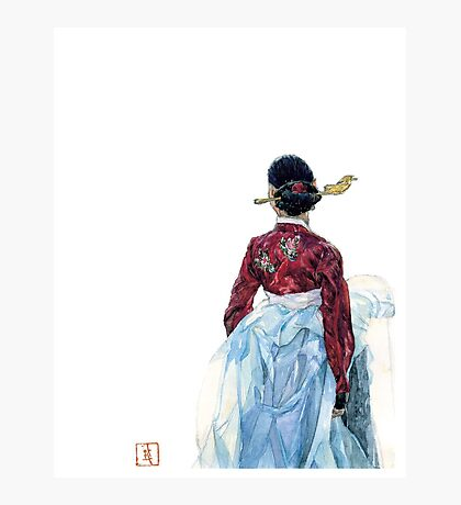 Lady wainting for someone Photographic Print