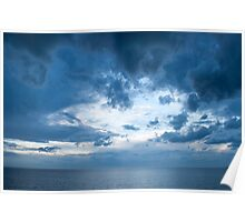 Clouds of Blue Poster