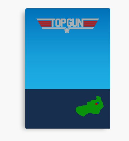 Top Gun - Minimal Poster 2 Canvas Print