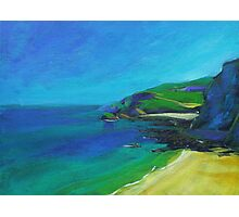 Acrylic painting of Cornish Coast Photographic Print