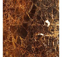 Brown Marble Photographic Print