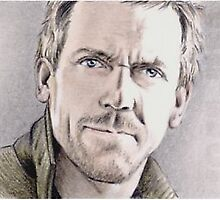 Hugh Laurie miniature by wu-wei