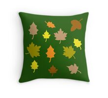 Fall Leaf Collection Throw Pillow