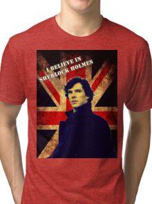 SherlockBelieveFlag Tri-blend T-Shirt