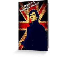 SherlockBelieveFlag  Greeting Card