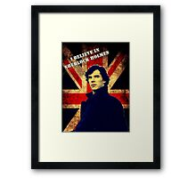 SherlockBelieveFlag Framed Print