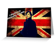 SherlockBelieveUnionJack Greeting Card