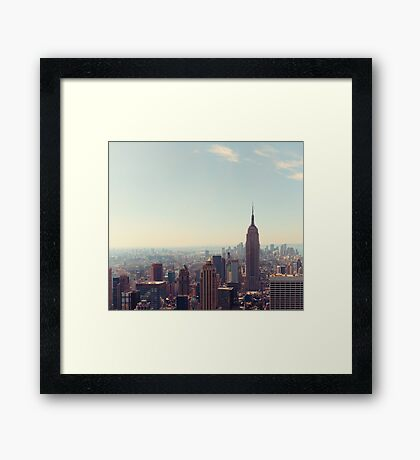 New York City - Empire State Building Framed Print