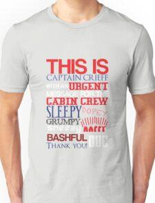Seven Dwarves Aboard MJN Air (Colour) Unisex T-Shirt