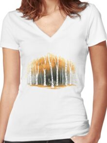 Autumn Wolf Women's Fitted V-Neck T-Shirt