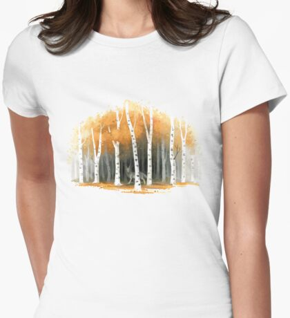 Autumn Wolf Womens Fitted T-Shirt