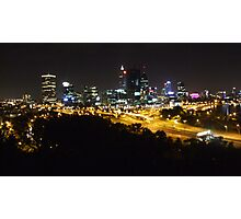 Perth - City of lights Photographic Print