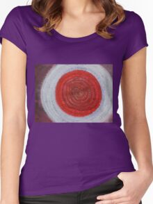 Shaman's Drum original painting Women's Fitted Scoop T-Shirt