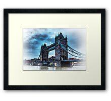 Tower Bridge Blue Framed Print