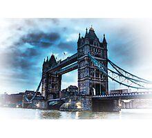 Tower Bridge Blue Photographic Print