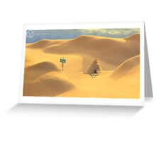 Desert hut Greeting Card