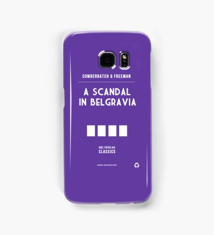 BBC Sherlock - A Scandal in Belgravia Minimalist Samsung Galaxy Case/Skin