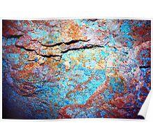 Drift wall blue Poster