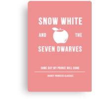 Disney Princesses: Snow White Minimalist Canvas Print