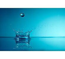 Splashing Water Droplet, close-up, studio shot Photographic Print