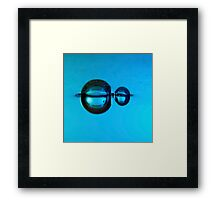 Water droplet forming bubbles underwate Framed Print