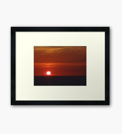 Sunset with some clouds - Puesta del Sol con unas Nubes Framed Print