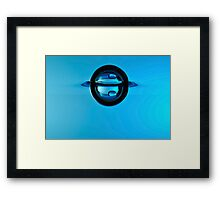 Splashing Droplet into water, underwater Framed Print