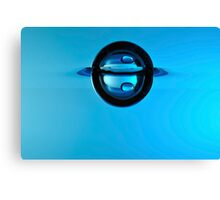 Splashing Droplet into water, underwater Canvas Print
