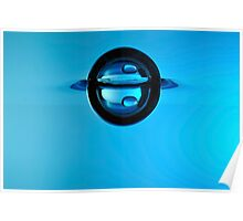 Splashing Droplet into water, underwater Poster