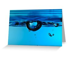 Droplet forming bubble, underwater Greeting Card