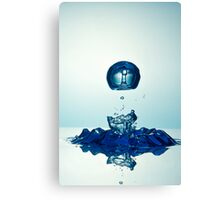 Splashing Droplet into water Canvas Print