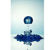 Splashing Droplet into water Photographic Print