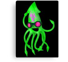 Nuclear Rave Squid Canvas Print